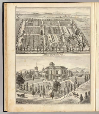 """Turnbull's Nursery,"" Robert Turnbull, proprietor ... Brooklyn ... Res. of Mrs. C.L. Fitch, Fitch Tract ... (both) Alameda Co., Cal. (Published by Thompson & West, Oakland, Cala., 1878)"