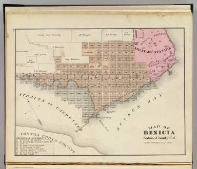Map of Benicia, Solano County, Cal. (Published by Thompson & West, San Francisco, Cala, 1878)