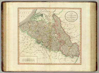 A new map of Netherlands, also of that part of Germany westward of the Rhine as ceded to the French and divided into their several departments, from the latest authorities, by John Cary, engraver, 1804. London: Published by J. Cary, Engraver & Map-seller, No. 181, Strand, Novr. 28, 1804.