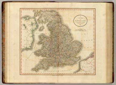 A new map of England, from the latest authorities. By John Cary, engraver, 1807. London, Published by J. Cary, Engraver & Map-seller, No. 181, Strand, Decr. 1st, 1807.