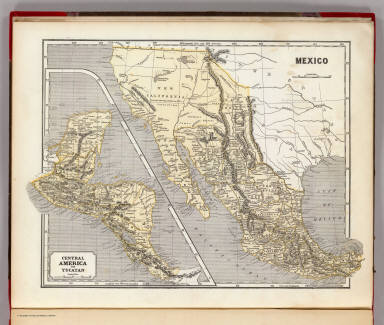 Mexico. (with) Central America and Yucatan. (By Sidney E. Morse and Samuel Breese. New York: Published by Harper & Brothers, 1845)