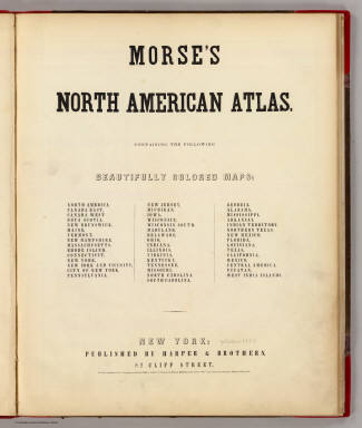 Title Page/Contents: N. American atlas. / Morse, Sidney E. (Sidney Edwards), 1794-1871; Breese, Samuel, 1802-1873 / 1845