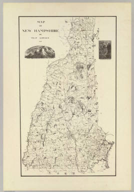 Map of New Hampshire by Philip Carrigain. 1816. (New York: Julius Bien, 1878)