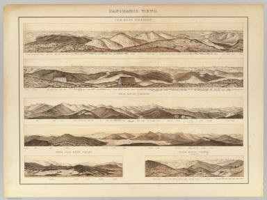 Panoramic views. From Mount Washington, Mount Tremont, etc. / New Hampshire. Geological Survey ; Hitchcock, Charles H. (Charles Henry), 1836-1919 / 1878