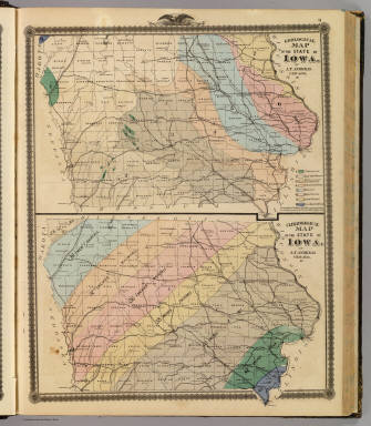 Geological map of the State of Iowa, Climatological map of the State of Iowa. / Andreas, A. T. (Alfred Theodore), 1839-1900 / 1875
