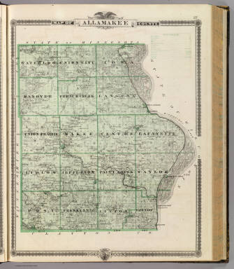 Map of Allamakee County, State of Iowa. / Andreas, A. T. (Alfred Theodore), 1839-1900 / 1875