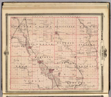 Map of Mitchell County, State of Iowa. / Andreas, A. T. (Alfred Theodore), 1839-1900 / 1875