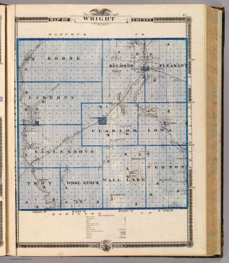 Map of Wright County, State of Iowa. / Andreas, A. T. (Alfred Theodore), 1839-1900 / 1875