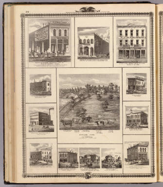 Farm, businesses in Charles City, Davenport, Ottumwa, Muscatine, Avoca, Marshalltown, Algona, Allerton, Red Oak and Atlantic. / Andreas, A. T. (Alfred Theodore), 1839-1900 / 1875