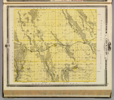 Map of Chickasaw County, State of Iowa. / Andreas, A. T. (Alfred Theodore), 1839-1900 / 1875