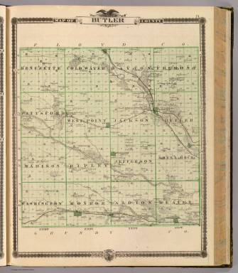 Map of Butler County, State of Iowa. / Andreas, A. T. (Alfred Theodore), 1839-1900 / 1875