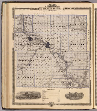 Map of Black Hawk County, State of Iowa. / Andreas, A. T. (Alfred Theodore), 1839-1900 / 1875