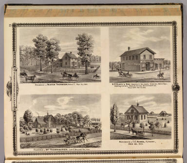 Residences and store in Polk County, Polk City and Altoona, Iowa. / Andreas, A. T. (Alfred Theodore), 1839-1900 / 1875
