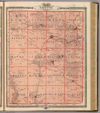 Fayette Iowa Map.Map Of Fayette County State Of Iowa Andreas A T Alfred