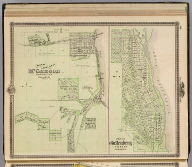 Plan of the City of McGregor and Plan of Guttenberg , Clayton Co. / Andreas, A. T. (Alfred Theodore), 1839-1900 / 1875