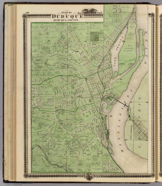 Plan of Dubuque, Dubuque County, State of Iowa. / Andreas, A. T. (Alfred Theodore), 1839-1900 / 1875