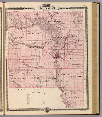 Map of Johnson County, State of Iowa. / Andreas, A. T. (Alfred Theodore), 1839-1900 / 1875