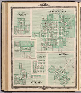 Plans of Independence, Jesup, Delphi, Winthrop, Polk City and Quasqueton. / Andreas, A. T. (Alfred Theodore), 1839-1900 / 1875