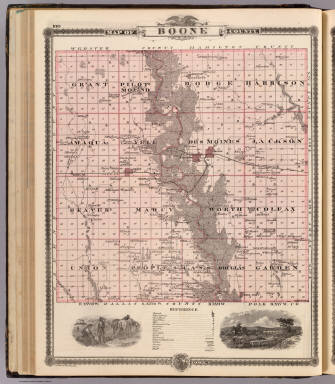 Map of Boone County, State of Iowa. / Andreas, A. T. (Alfred Theodore), 1839-1900 / 1875
