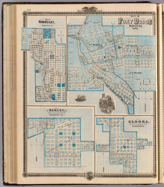 Plans of Fort Dodge, Humboldt, Ackley and Eldora, Iowa. / Andreas, A. T. (Alfred Theodore), 1839-1900 / 1875