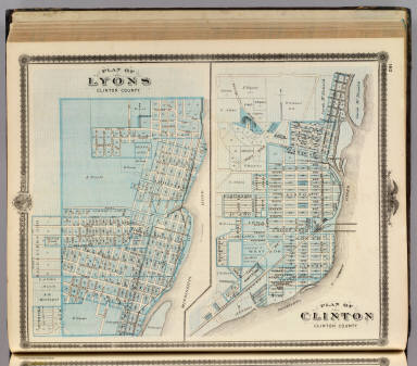 Plans Of Lyons And Clinton Clinton County State Of Iowa Andreas