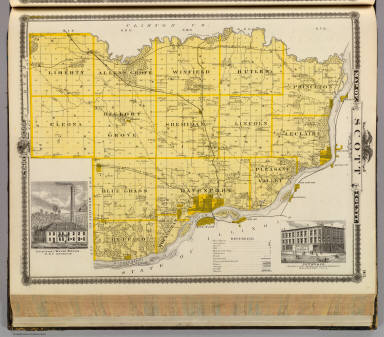 Of Scott County State Of Iowa Andreas A T Alfred Theodore - State of iowa map
