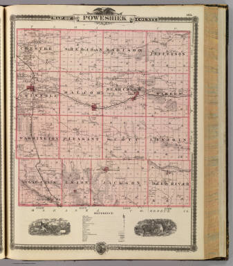 Map of Poweshiek County, State of Iowa. / Andreas, A. T. (Alfred Theodore), 1839-1900 / 1875