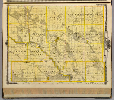 Map of Jasper County, State of Iowa. / Andreas, A. T. (Alfred Theodore), 1839-1900 / 1875