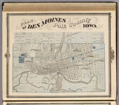 Plan of Des Moines, Polk County, Iowa. / Andreas, A. T. (Alfred ...