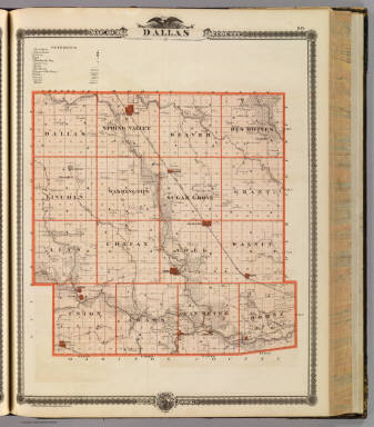 Map of Dallas County, State of Iowa. / Andreas, A. T. (Alfred ...