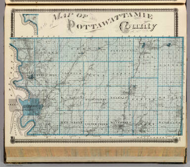 Map of Pottawattamie County. / Andreas, A. T. (Alfred Theodore), 1839-1900 / 1875