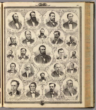 (Portraits of) L.W. Tubbs, John Chaney, C.H. Lane, N.B. Moore, et al. / Andreas, A. T. (Alfred Theodore), 1839-1900 / 1875