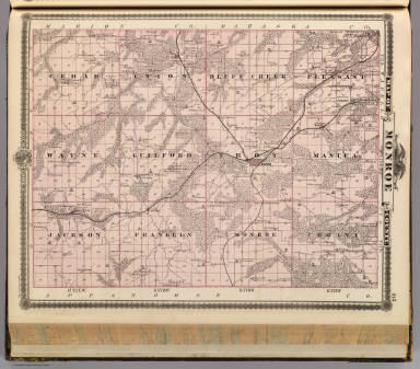 Map of Monroe County, State of Iowa. / Andreas, A. T. (Alfred Theodore), 1839-1900 / 1875