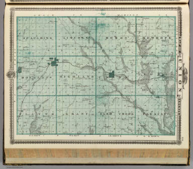 Map of Union County, State of Iowa. / Andreas, A. T. (Alfred Theodore), 1839-1900 / 1875