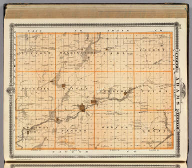 Map of Adams County, State of Iowa. / Andreas, A. T. (Alfred Theodore), 1839-1900 / 1875