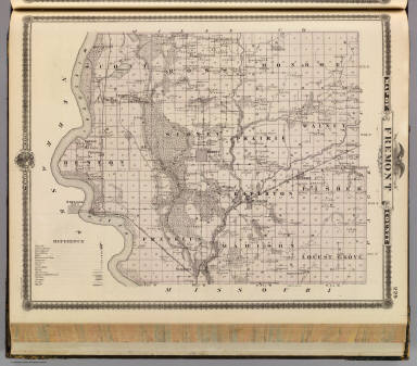 Map of Fremont County, State of Iowa. / Andreas, A. T. (Alfred Theodore), 1839-1900 / 1875