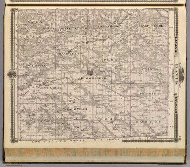 Map of Davis County, State of Iowa. / Andreas, A. T. (Alfred