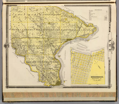 Map of Lee County and Montrose, State of Iowa. / Andreas, A. T. (Alfred Theodore), 1839-1900 / 1875