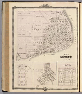 Plans of Keokuk, Forest City, Greene and Garner, State of Iowa. / Andreas, A. T. (Alfred Theodore), 1839-1900 / 1875