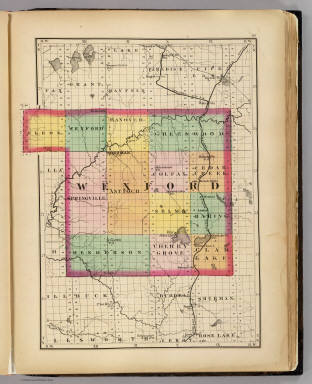 (Map of Wexford County, Michigan) / Walling, H. F. / 1873