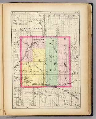 (Map of Clare County, Michigan) / Walling, H. F. / 1873