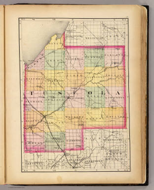 Map of Tuscola County, Michigan) / Walling, H. F. / 1873