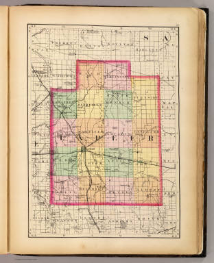 (Map of Lapeer County, Michigan) / Walling, H. F. / 1873