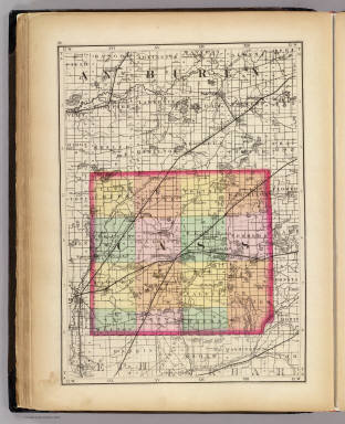 (Map of Cass County, Michigan. Drawn, compiled, and edited by H.F. Walling, C.E. ... Published by R.M. & S.T. Tackabury, Detroit, Mich. Entered ... 1873, by H.F. Walling ... Washington. The Claremont Manufacturing Company, Claremont, N.H., Book Manufacturers)
