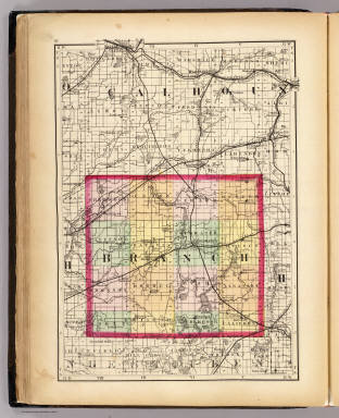 (Map of Branch County, Michigan. Drawn, compiled, and edited by H.F. Walling, C.E. ... Published by R.M. & S.T. Tackabury, Detroit, Mich. Entered ... 1873, by H.F. Walling ... Washington. The Claremont Manufacturing Company, Claremont, N.H., Book Manufacturers)