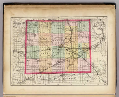 (Map of Lenawee County, Michigan. Drawn, compiled, and edited by H.F. Walling, C.E. ... Published by R.M. & S.T. Tackabury, Detroit, Mich. Entered ... 1873, by H.F. Walling ... Washington. The Claremont Manufacturing Company, Claremont, N.H., Book Manufacturers)