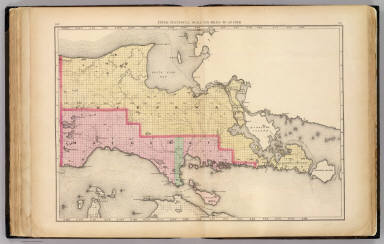 Upper Peninsula, scale six miles to an inch (Chippewa and Mackinac counties) / Walling, H. F. / 1873