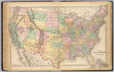 Map of the United States of America. / G.W. & C.B. Colton & Co.; Walling, H. F. / 1873