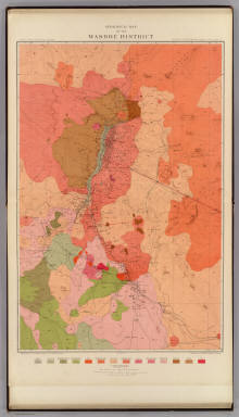 Geological Map of the Washoe District. / Becker, George F. / 1882