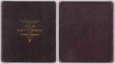 (Covers to) Department Of The Interior, United States Geological Survey, Clarence King Director. Atlas To Accompany The Monograph On The Geology Of The Comstock Lode And The Washoe District By George F. Becker. Washington 1882. Julius Bien & Co. Lith. New York.